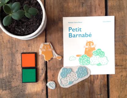 Livre le petit barnabé de N.Clairet Boitel et tampons et encre les minuscules