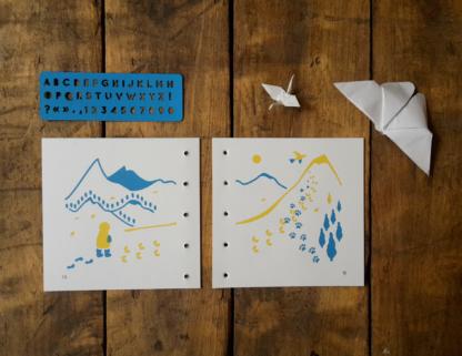livrele yack des annapurnas à éditer et à écrire, pochoir alphabet