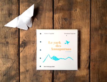 livre à fabriquer et à illustrer le yack des annapurnas