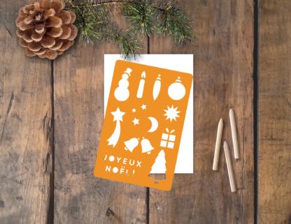 pochoir carte Noël Joyeux Noël