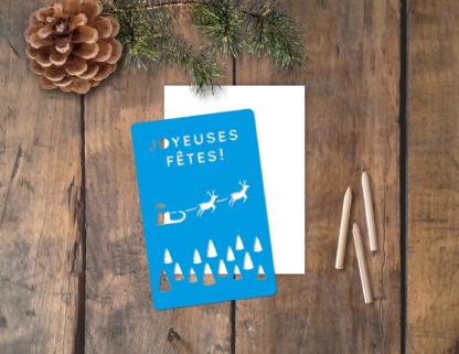 pochoirs carte Noël Joyeuses Fêtes