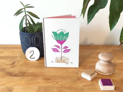 carte violette et verte