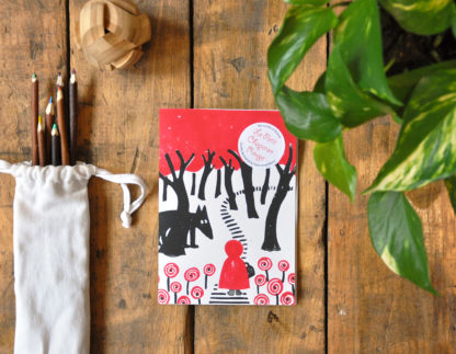 Conte Le petit chaperon rouge, livre à illustrer