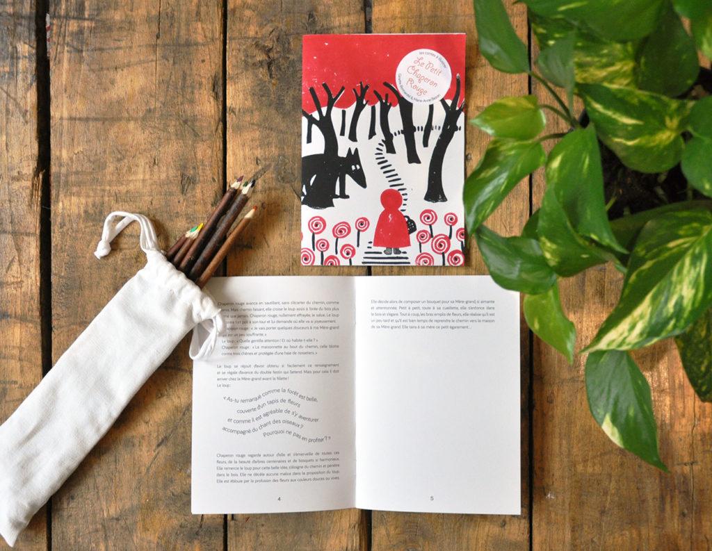 Livres de jeunesse Conte Le petit chaperon rouge, livre à illustrer