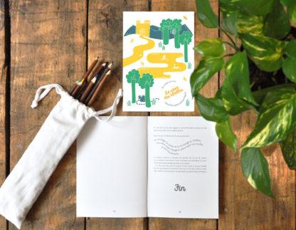 Conte la reine des abeilles, livre à illustrer