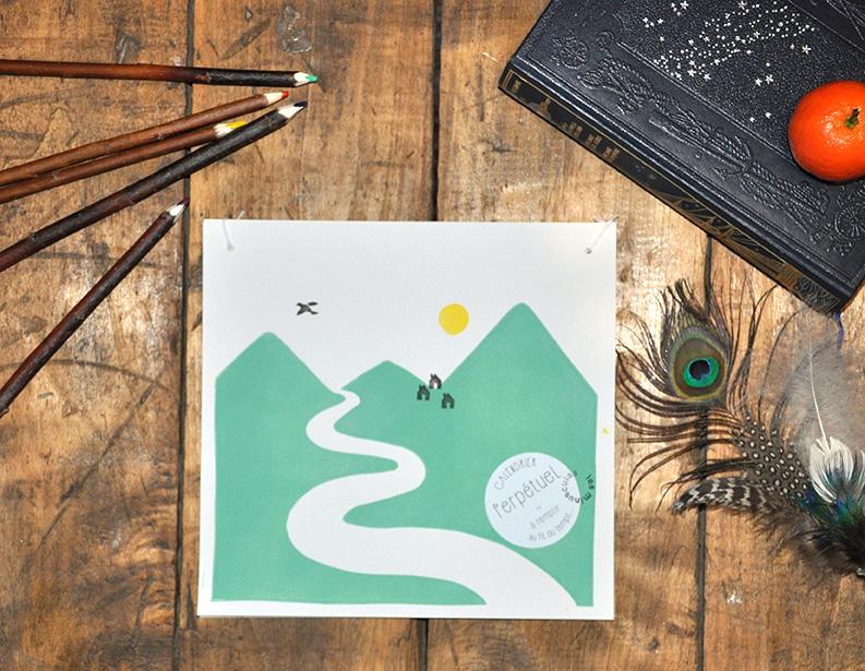 calendrier perpétuel couverture montagne à commencer quand vous voulez