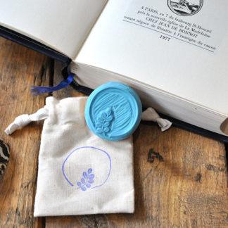 tampon ex-libris et cercle et branche pour vos livres, documents