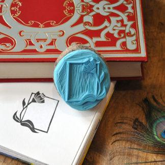 tampon ex-libris fleurs pour vos livres, documents
