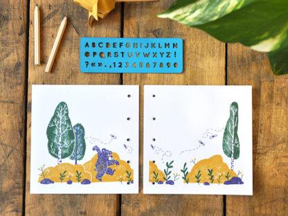 livres de jeunesse à écrire page 4 et 5 - un ourson à Yellowstone - les minuscules