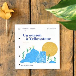 livres de jeunesse à écrire - un ourson à Yellowstone - les minuscules