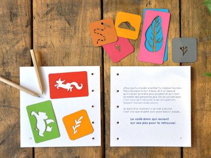 livres de jeunesse à illustrer page 10 et 11- un ourson à Yellowstone - les minuscules