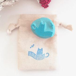 Tampon Bravo chat pour cadeaux fin d'année aux maitres et maitresses
